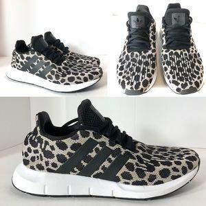 Adidas Woman's 8 Swift Run Cheetah Athletic Shoes